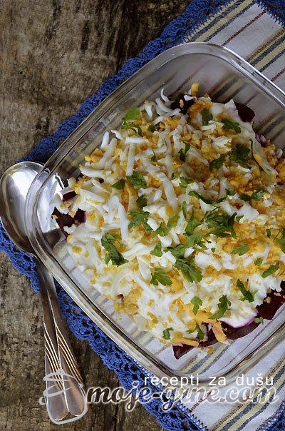 Salata od cvekle sa jajima