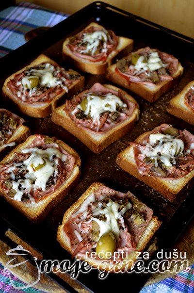 Pizza na hlebu
