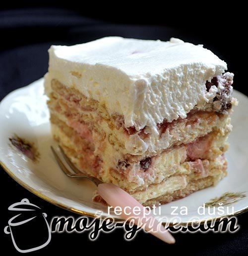 Torta sa višnjama i kiselom pavlakom