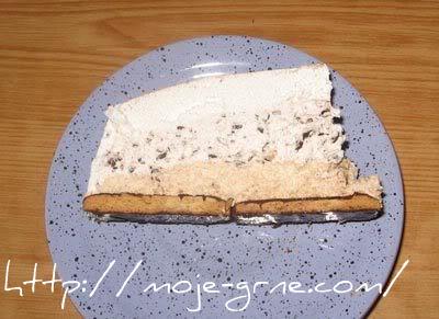 Posna ledena torta