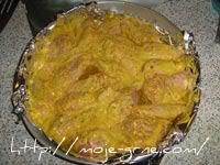 Pileca krilca i karabataci u sosu od karija