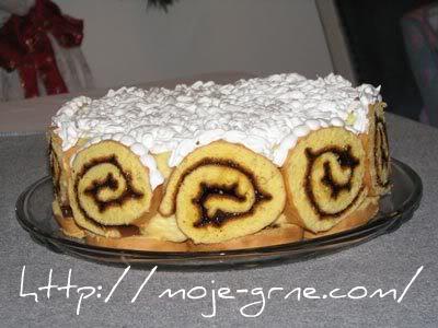 Banana rolat torta