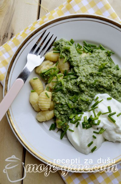 Njoke sa brokolijem i koprivom