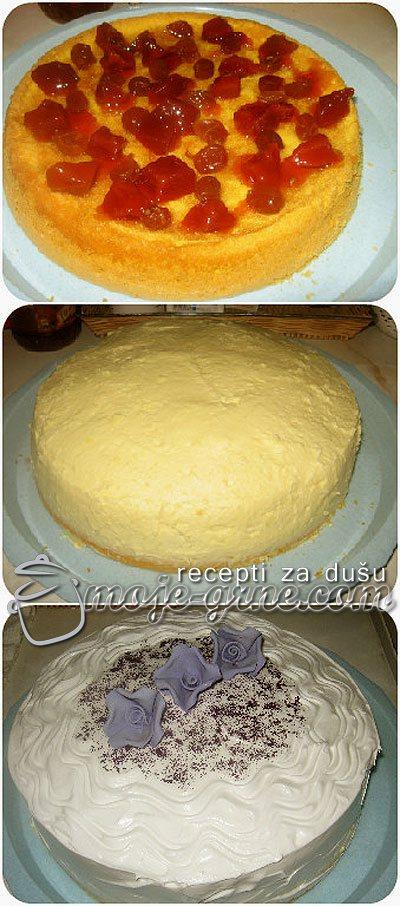 Torta sa grožđem i dunjom iz slatka
