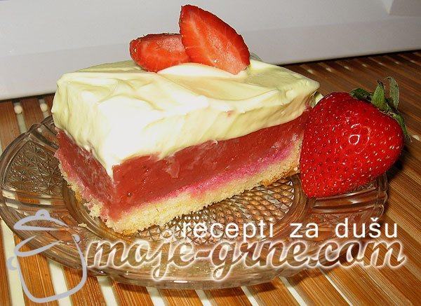 Krem kolač od jagoda