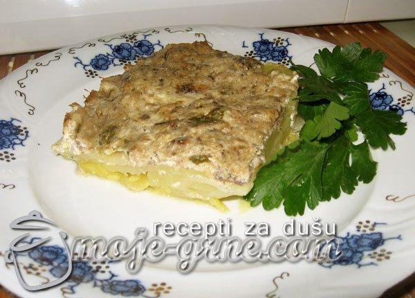 Musaka sa sardinom i tikvicama