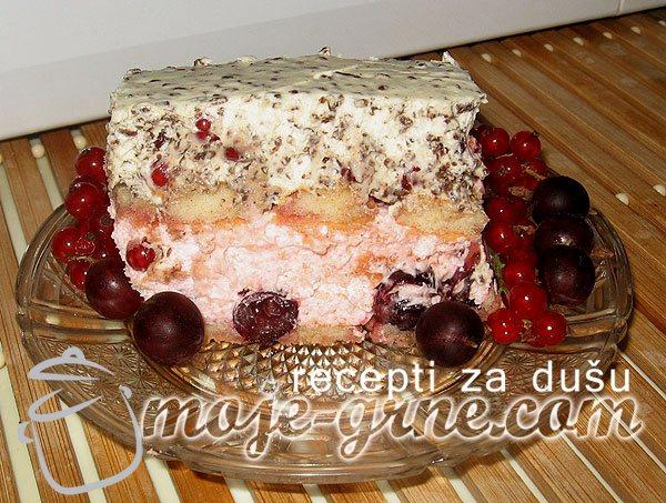 Grnetova torta sa ribizlama i ogrozdom