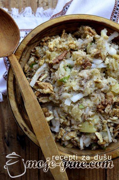 Krompir salata sa sardinom i tunjevinom