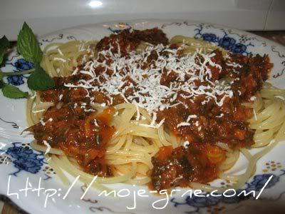 špageti bolonjeze sa povrćem