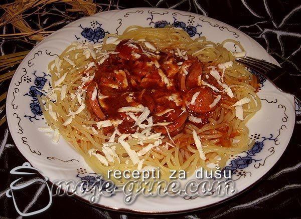 Špagete sa safoladom