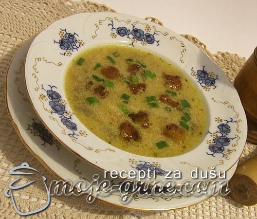 Krem supa sa mladim lukom