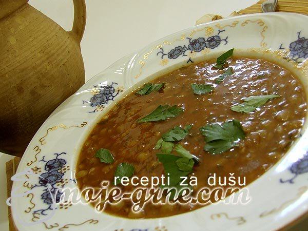 Mediteranska supa od leće (sočiva)