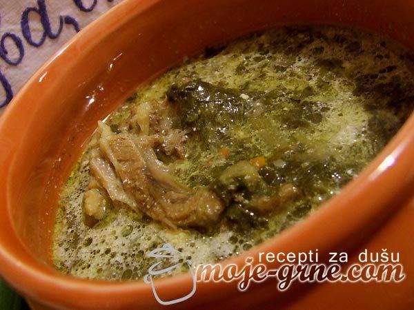 Čorbica od zelja sa jagnjetinom