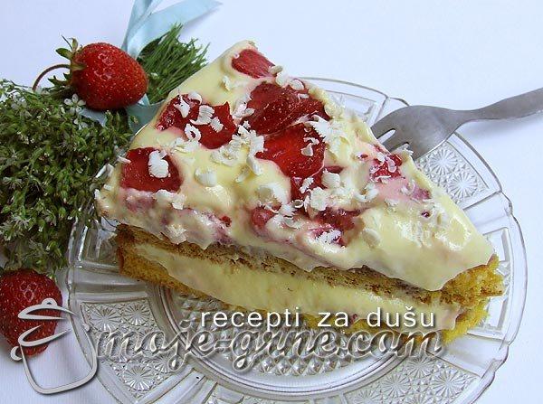 Torta od jagoda i vanile