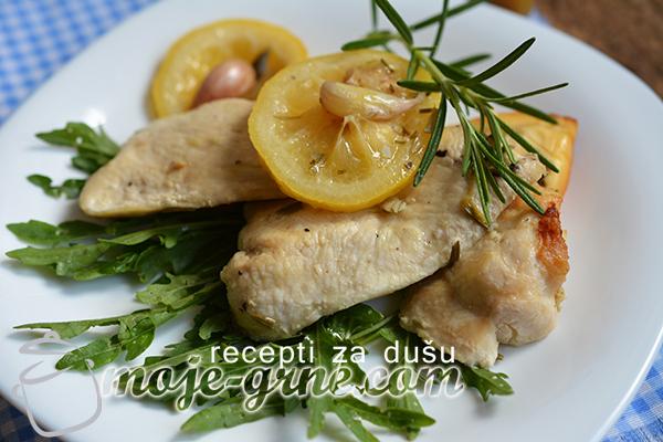 Zapečena piletina sa limunom