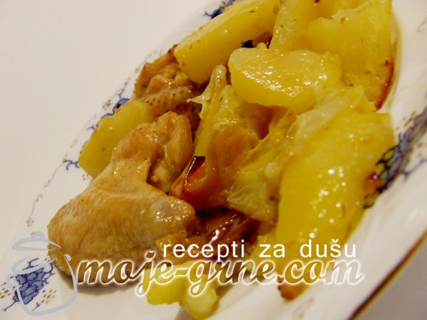 Pileća krilca u krompiru