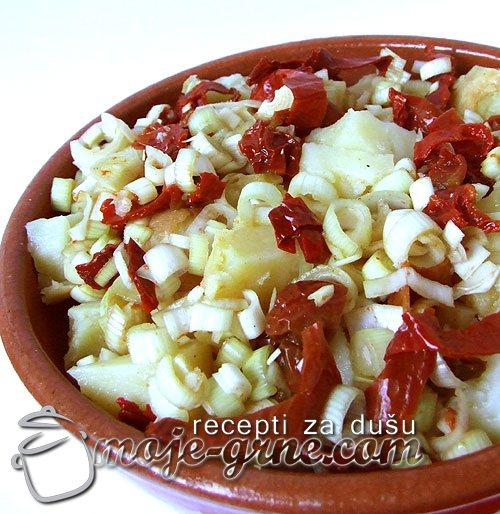 Salata od krompira i praziluka
