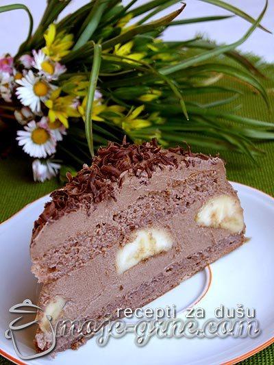 Čokoladna torta sa bananama