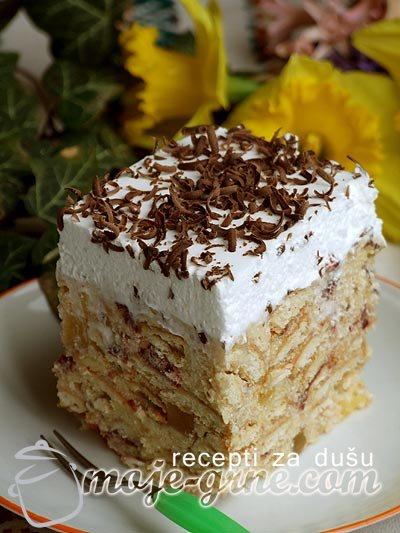 Keks torta sa voćem iz slatka
