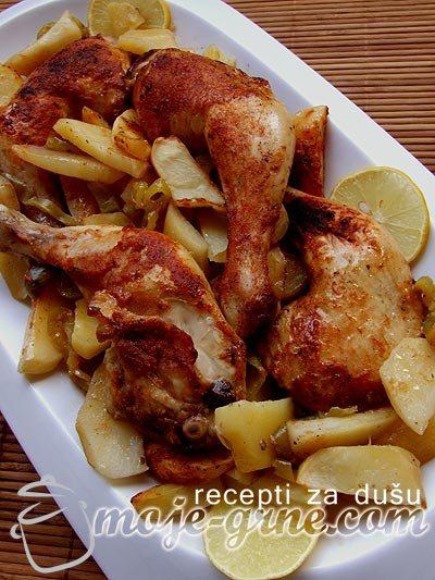 Piletina na Maggi način sa belim lukom