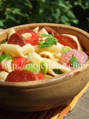 Hladna salata od paste i Zlatiborac govedje salame