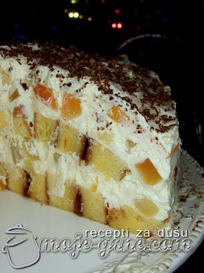 Rolat torta sa tropskim voćem