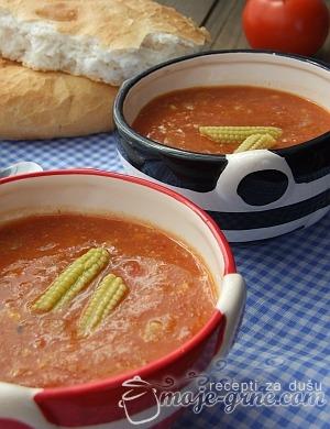 meksicka krem supa od kukuruza i paradajza