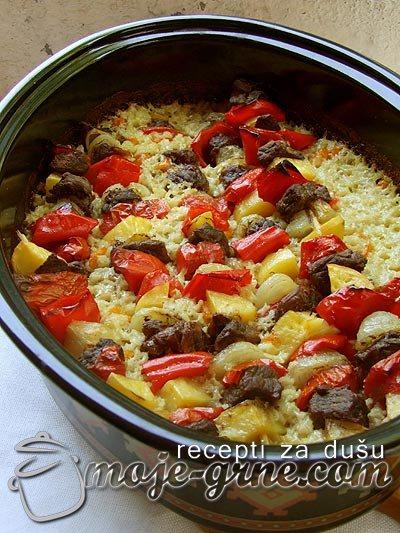 Ražnjići sa junetinom i povrćem