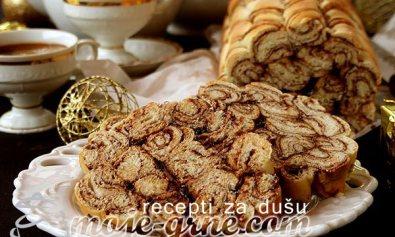 Spiralni mramorni hleb