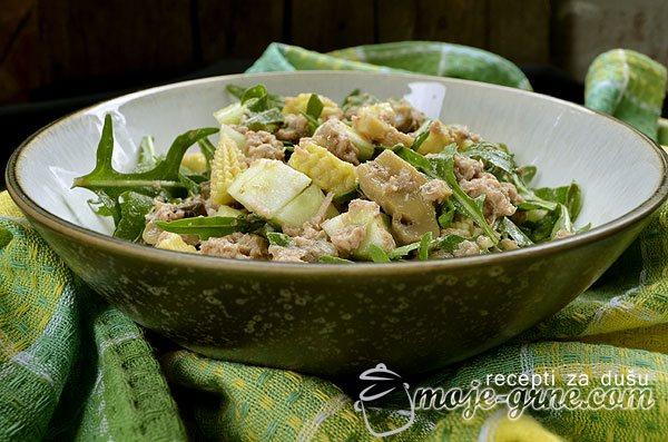 Salata od rukole i tunjevine