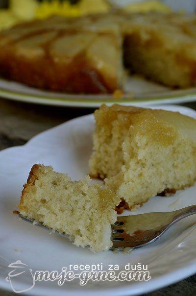 Izvrnuti kolač sa kruškama