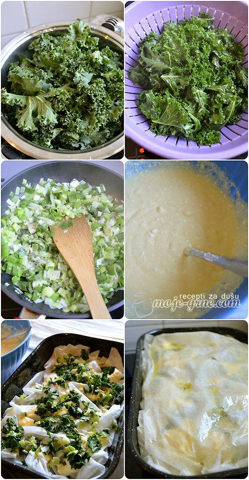 Pita sa kejlom i sirom - Kale & Cheese Pie