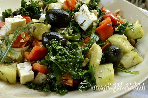 Salata od kejla - Kale salad