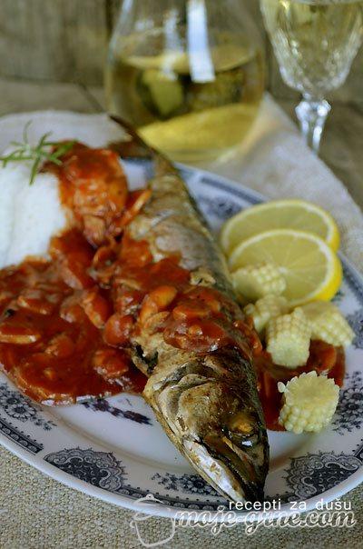 Skuša u paradajz sosu sa šampinjonima - Zdravo Brzo Lako - Frikom