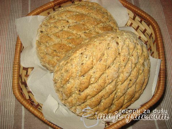 Hleb od integralnog brašna sa semenkama