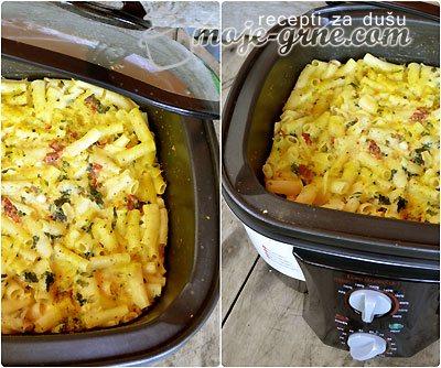 Makarone sa povrćem i sirom