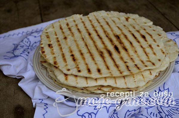 Tortilje iz gril tiganja