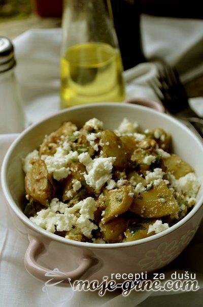 Krompir salata sa kozjim sirom