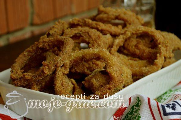 Przeni kolutovi luka - Onion rings
