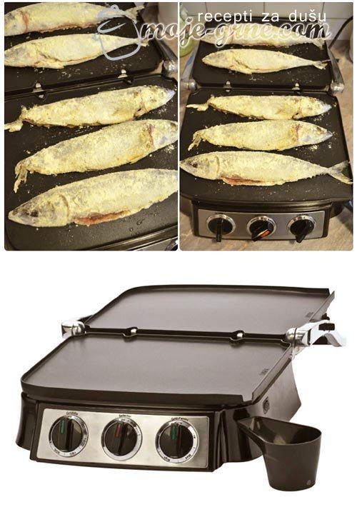 Pečena skuša i restovani krompir
