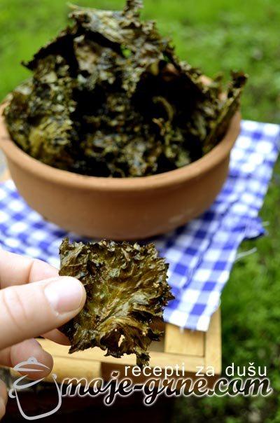 Čips od lisnatog kelja - Baked Kale Chips