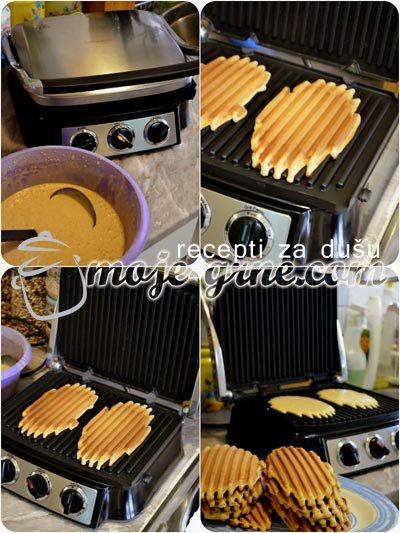 Vafli sa kikiriki puterom - Peanut Butter Waffle
