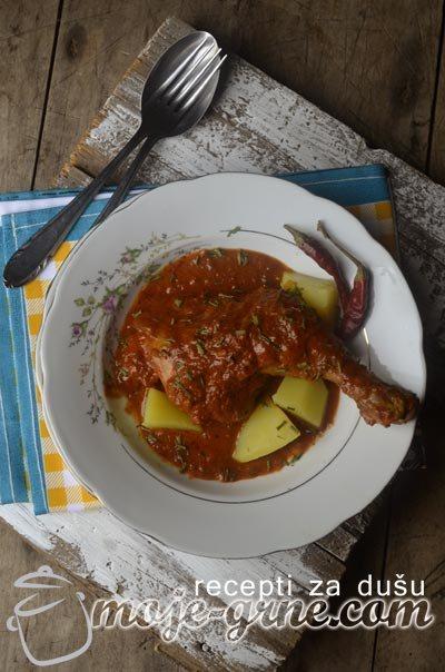 Bataci u slatko kiselom sosu