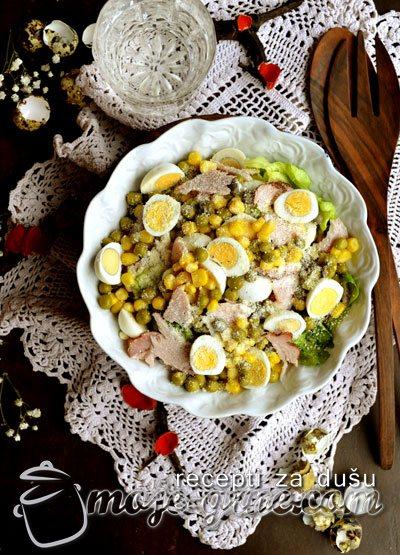 Salata sa prepeličjim jajima