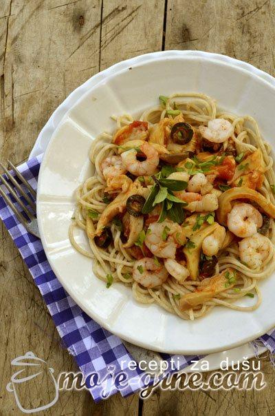 Špageti sa gamborima