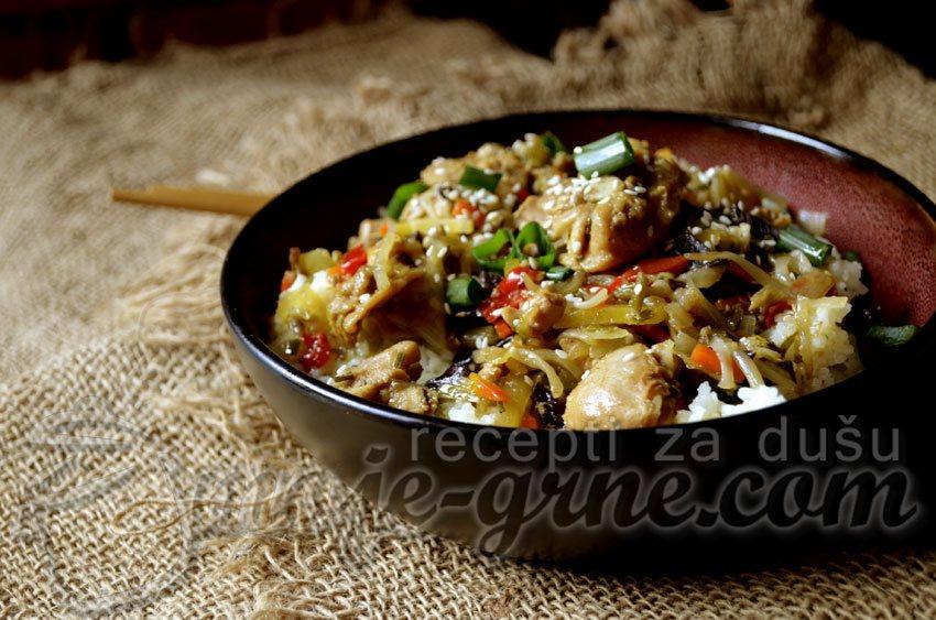 Piletina na azijski način