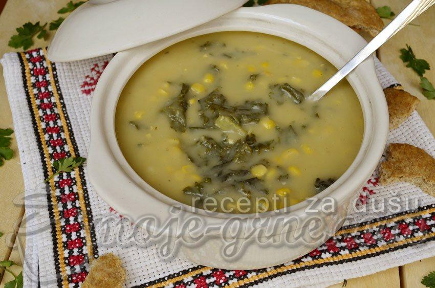 Krem supa od krompira, kelja i šećerca
