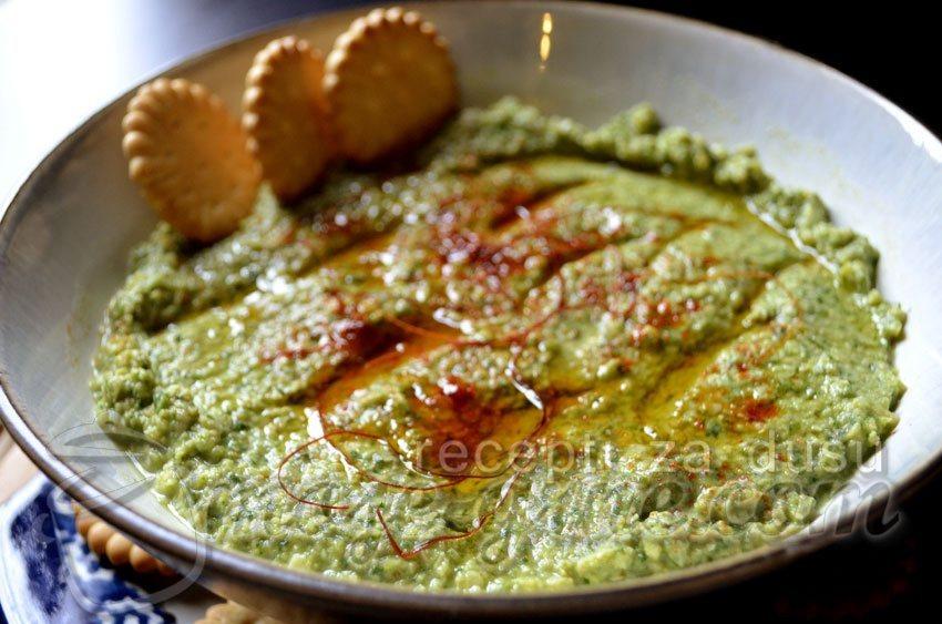 humus od lisnatog kelja i tahini pasta2
