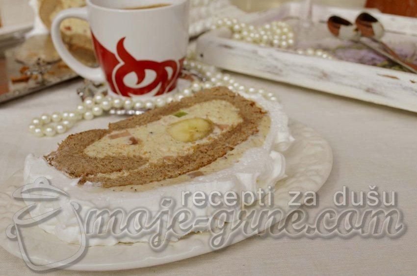 Rolat torta sa bananama