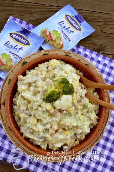 Krem salata sa brokolijem i karfiolom